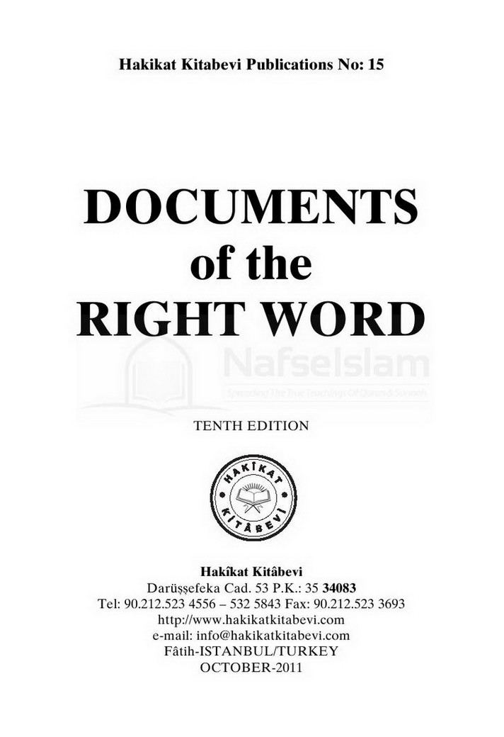 Documents Of The Right Words